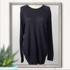 BCBGMaxAzria Dark Navy Merino Wool Sweater Size S